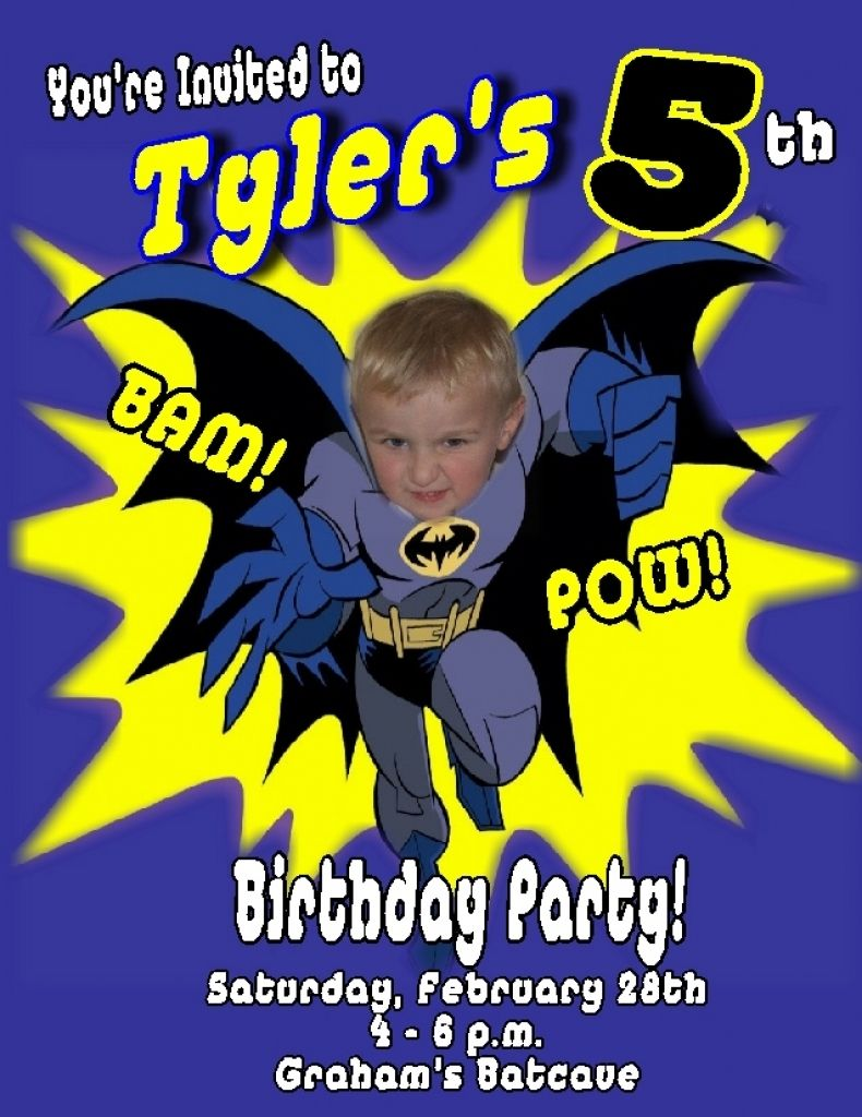 Batman Birthday Invitations Within