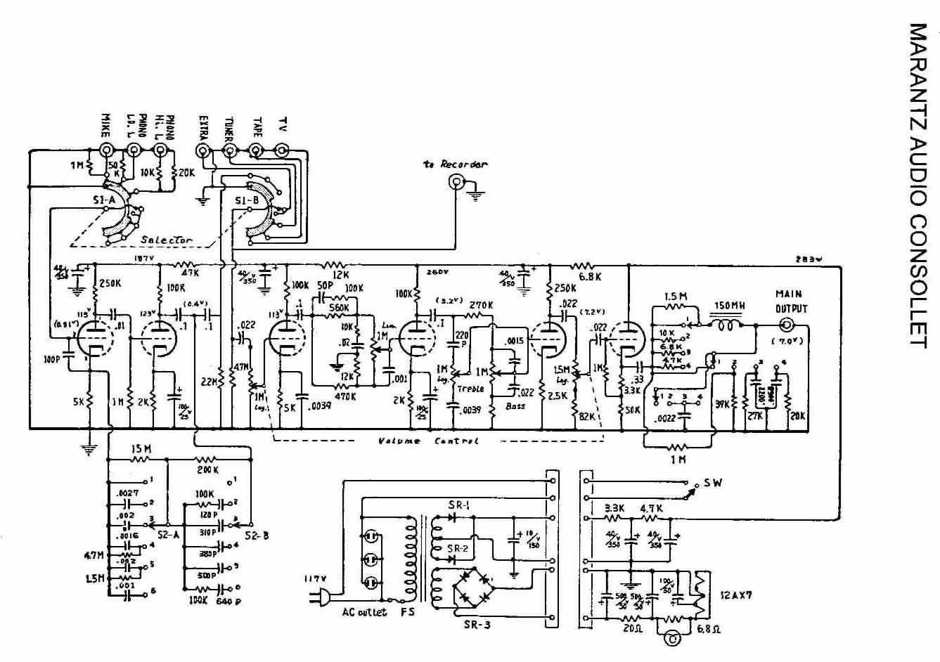 Marantz 7 Schematic Wiring Diagram Image Pertaining To Excellent