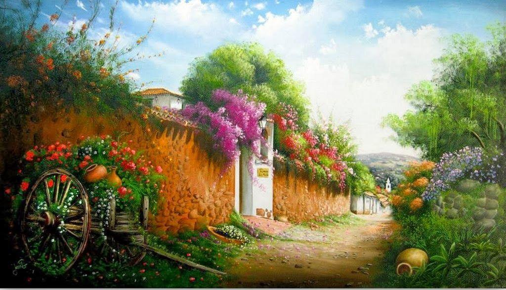 Jose Raul Rodriguez Galan Colombia Paisajes Pintura Al Oleo Paisajes Arte Fotografico