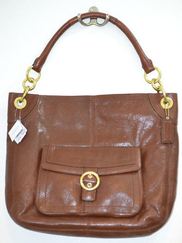 NWT $249.98!!   MSRP $398 Coach Penelope Brown Leather Buckle Hobo Purse Shoulder Bag