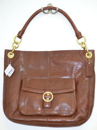 NWT $249.98!!   MSRP $398 Coach Penelope Brown Leather Buckle Hobo Purse Shoulder Bag