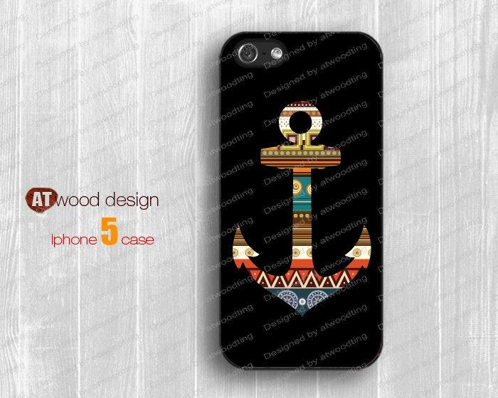 anchor iphone 5 cases case for iphone 5 Iphone 4 4s case iphone 5 cover atwoodting design. $6.99, via Etsy.
