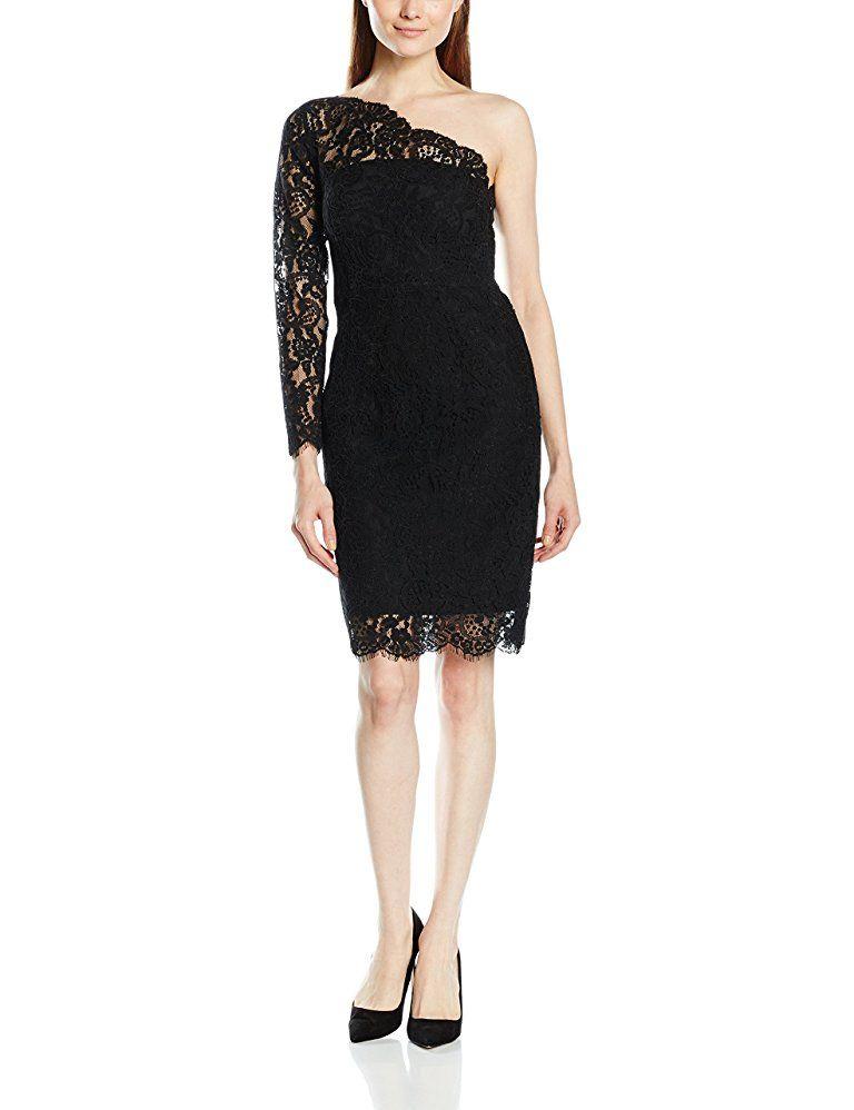ESPRIT Collection Damen Kleid 8EO8E087 Schwarz - silvester