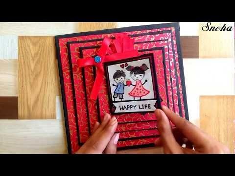 How To Make Napkin Fold Card Birthday Greeting Card Ideas