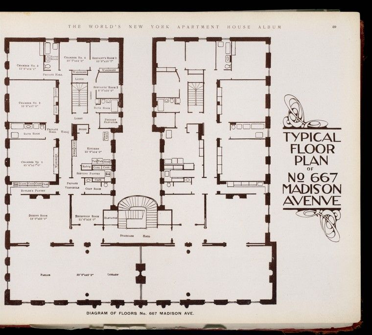Typical Floor Plan Of No 667 Madison Avenue Vintage