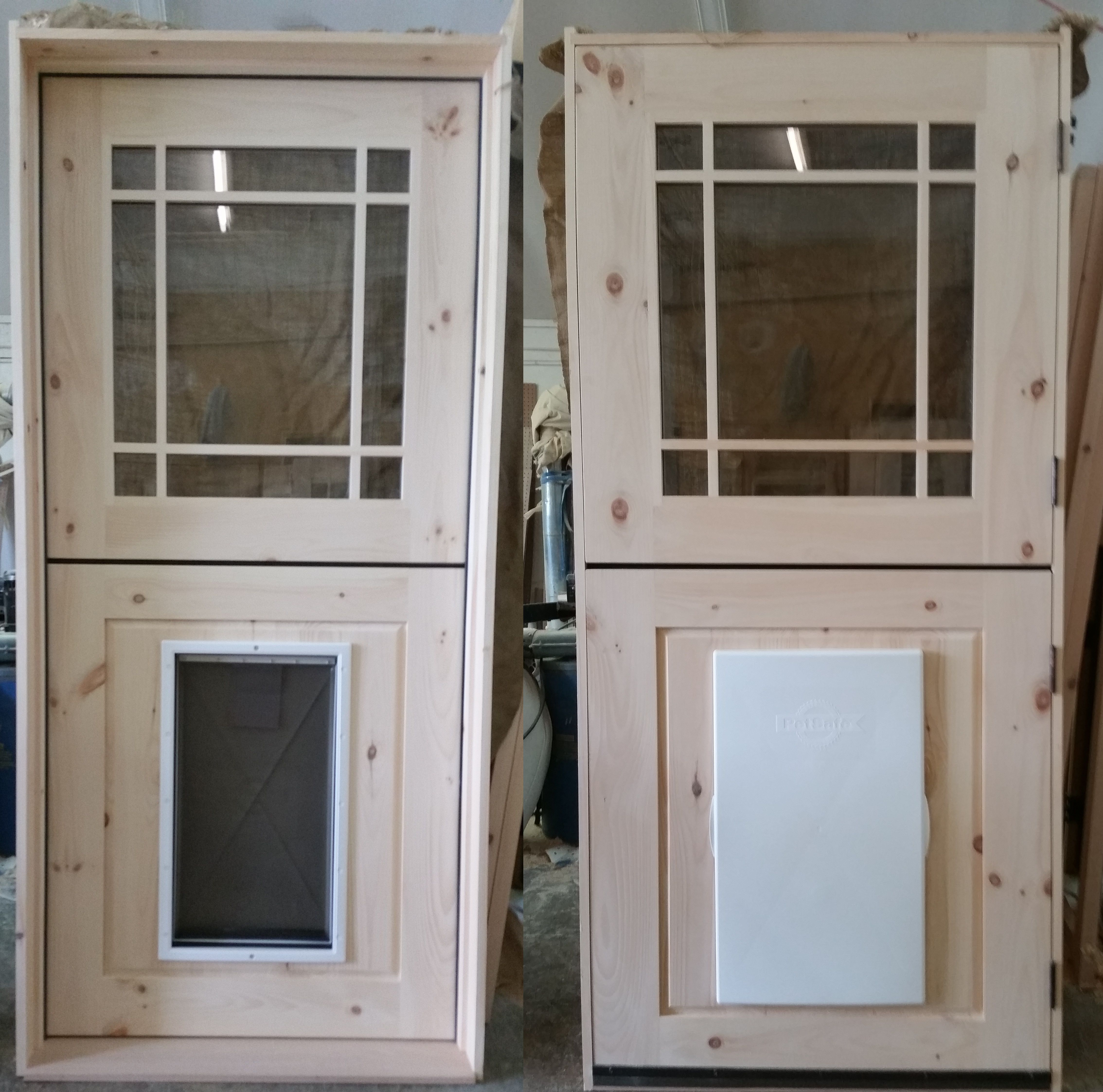 Custom Exterior Dutch Door With Prairie Grill And Installed Large Pet Perfect For Your Dog Or Cat Call A Free Quote Today 518 745 4066 Visit