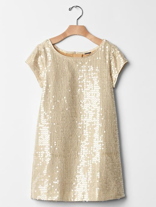 Lily: Sequin shift dress @ the Gap $34