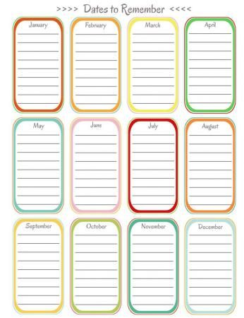 Free Printables Labels for Quilts Pinterest Free printables - perpetual calendar template