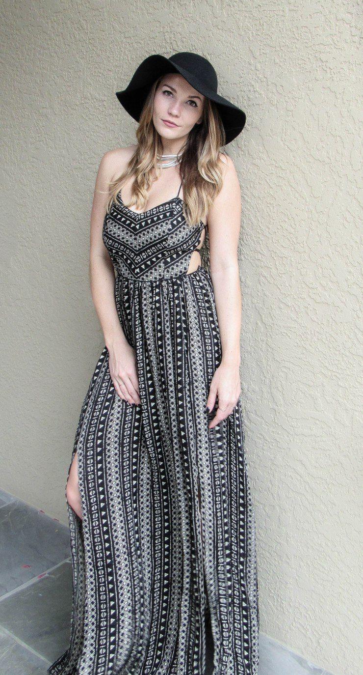 Bohochic maxi dress style black black blog pinterest