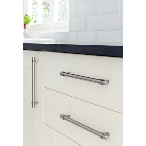 Collared T Bar Cabinet Handles Stainless Finish 14mm