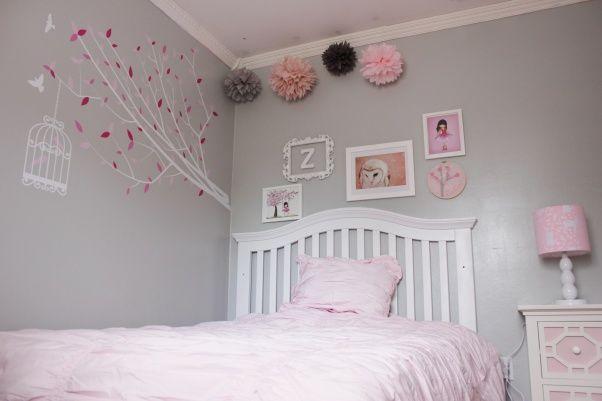 Kinderkamer Van Kenzie : Pink and grey girls room pink and gray girls room this was a