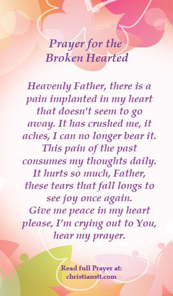 Prayer Healing For The Broken Hearted And The Lord Said