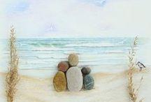 Cuadros hechos con piedras de playa buscar con google manualidades pinterest - Cuadros hechos con piedras ...