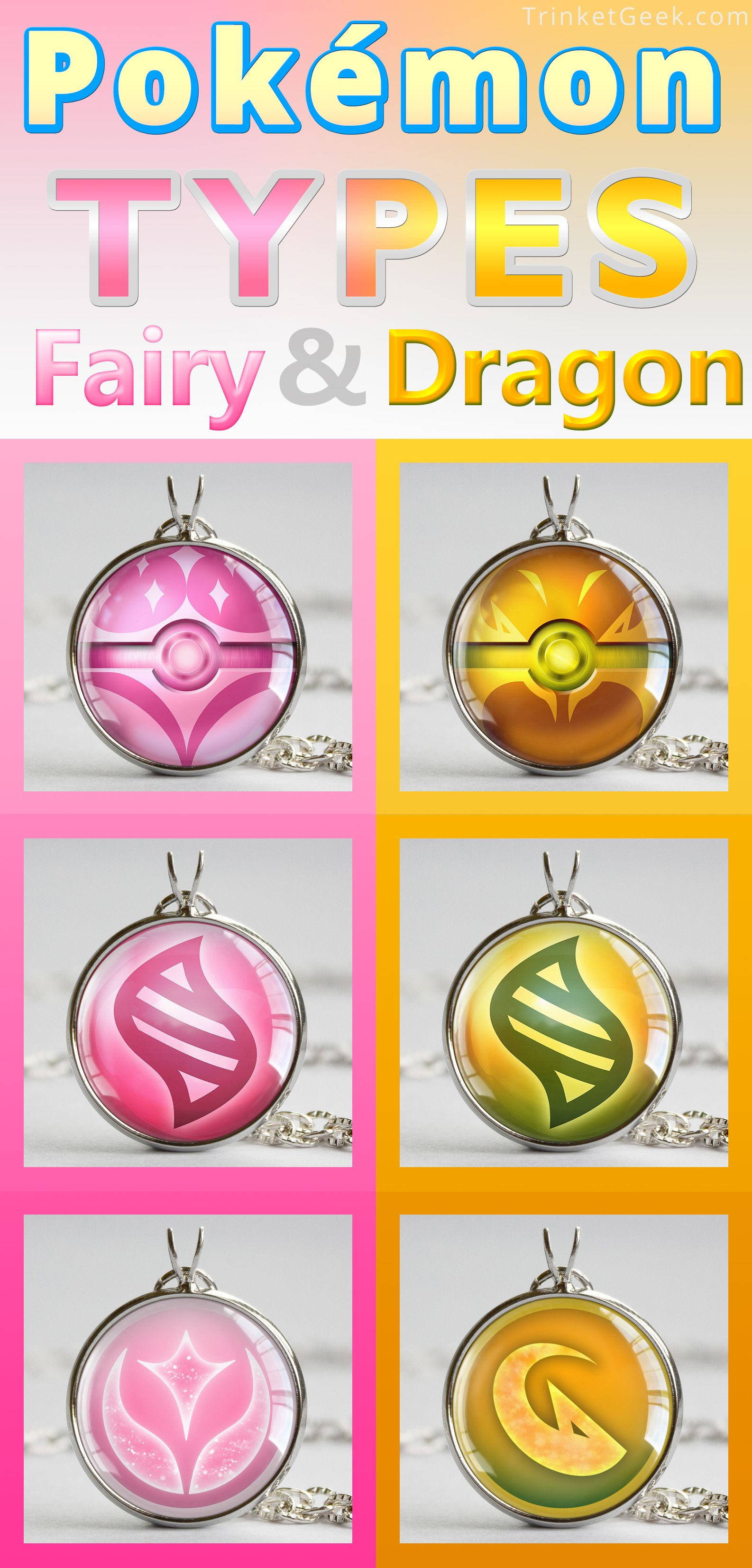 Pkmn Type Themed Pokeball Pendants Gaming Trinkets Pokemon