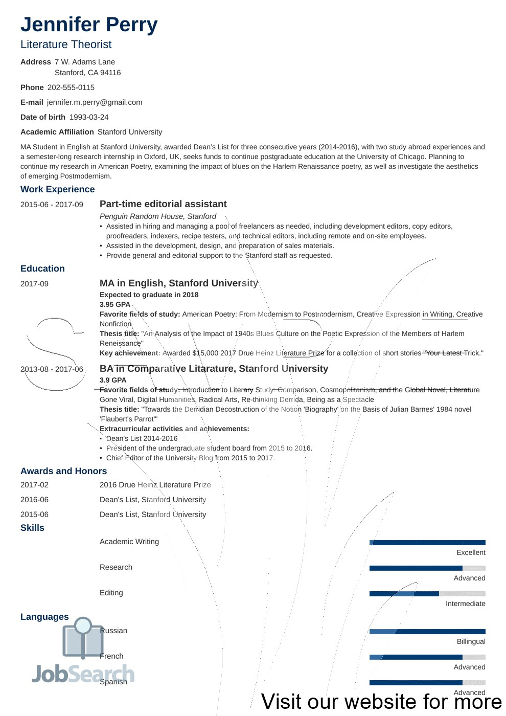 Scholarship Resume Template Google Docs in 2020 Student