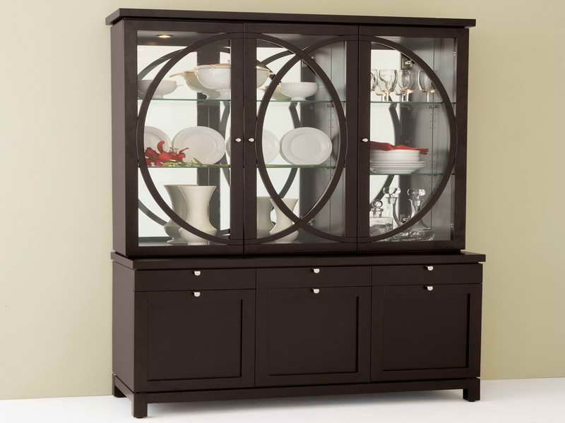 Furniture Sweet Modern China Cabinet Design Modern China Cabinet
