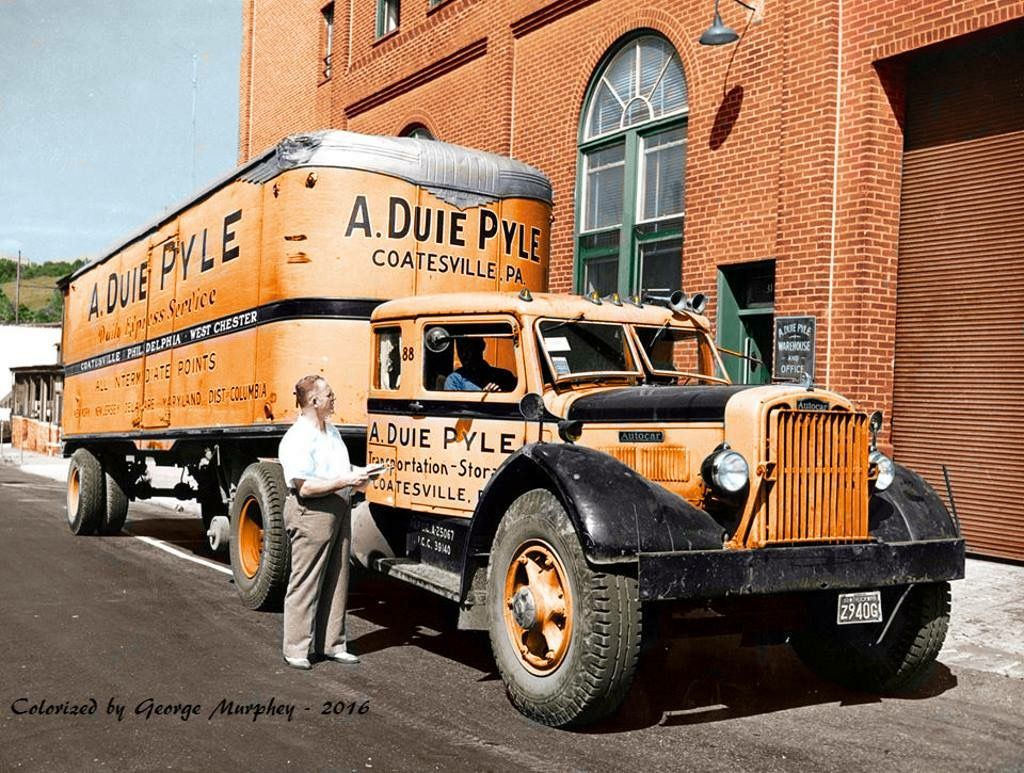 Vintage autocar conventional with a sleeper vintage trucksold truckssemi