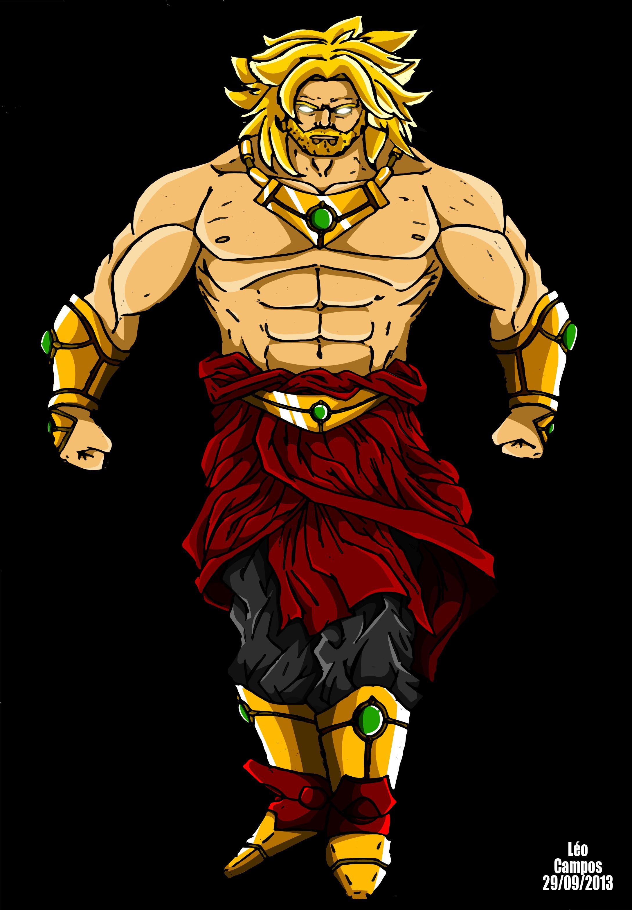 Minha versão do Brolly, o lendário super sayajin. Personagem do universo de Dragon Ball Z.
