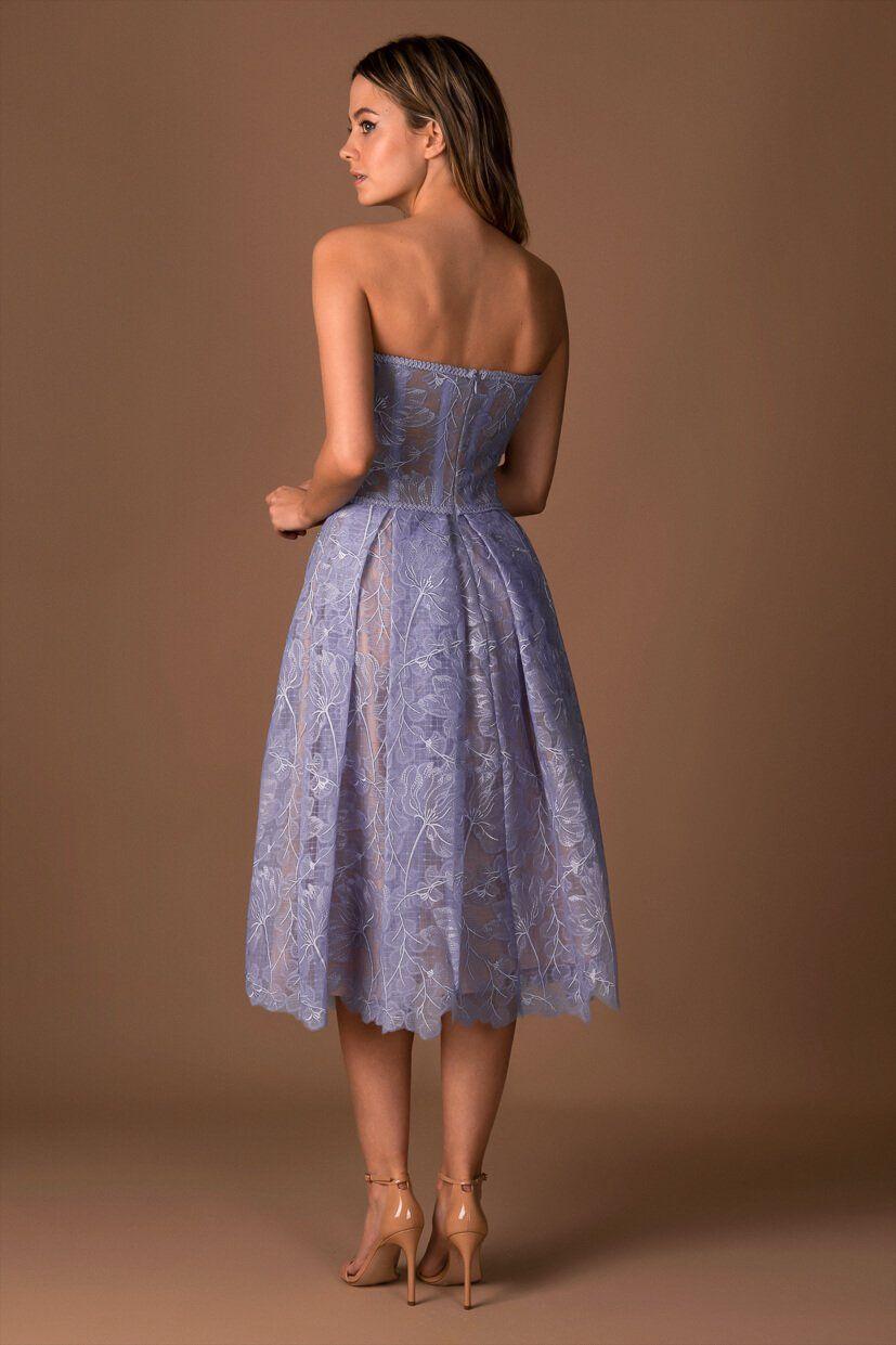 Olivia dress in Blue   NADINE MERABI   Dresses, Wedding guest ...