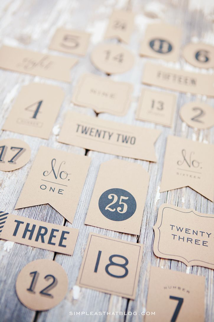 Advent Calendar Christmas Countdown Tags #numerocalendrieraventaimprimer