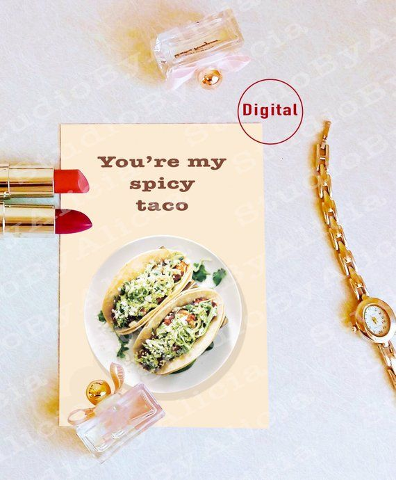 Taco quote printable gift card template digital delivery greeting