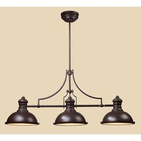 Superior Westmore Lighting 13 In W Chadwick 3 Light Oiled Bronze Kitchen Island Light  With