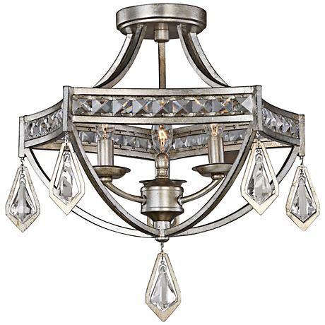 Uttermost tamworth 19 wide champagne leaf ceiling light
