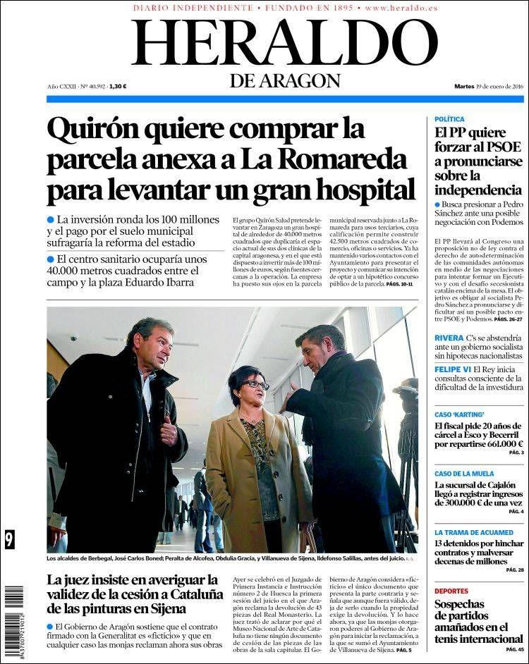 Periódico Heraldo De Aragón España Periódicos De España Toda La Prensa De Hoy Kiosko Net Aragón Periodicos De España Periodismo
