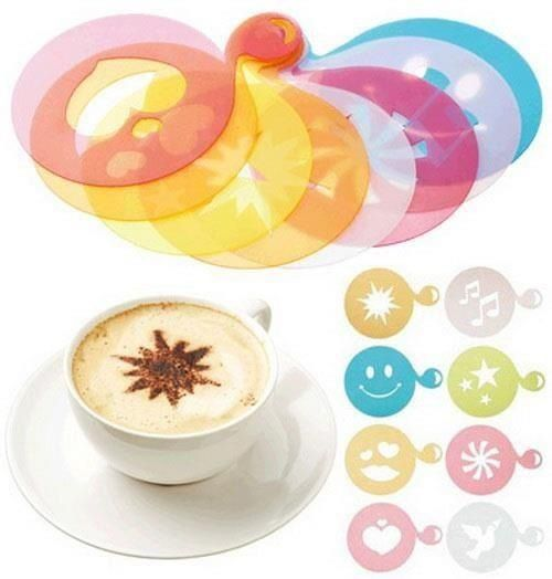 Cappuccino art stencils