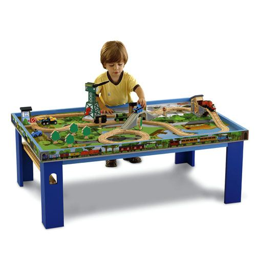 Thomas Friends Wooden Railway Island Of Sodor Play Table Thomas The Train Toys Toy Train Kids Play Table