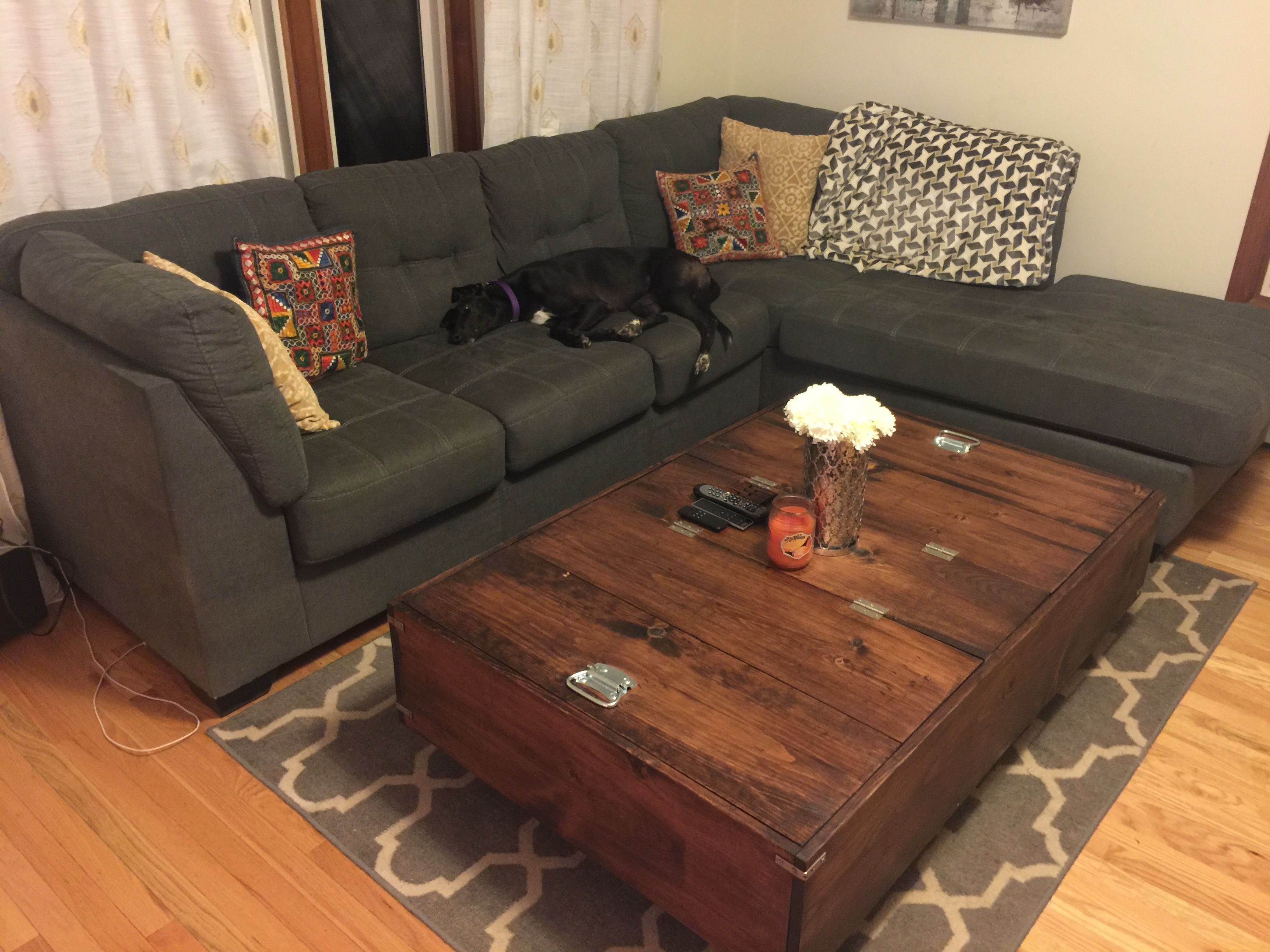 Diy Large Coffee Table With Storage Diy Storage Coffee Table Coffee Table With Storage Storage Ottoman Coffee Table [ 2448 x 3264 Pixel ]