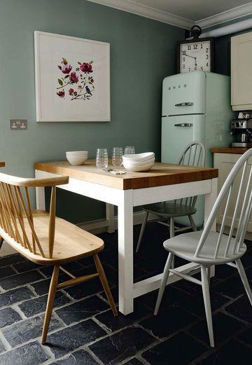 Fiona Douglas  découvrez sa maison florale à Glasgow Smeg, Petite - Peindre Un Carrelage De Cuisine