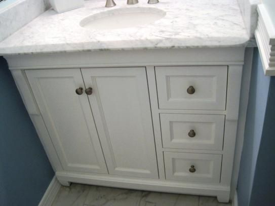 Home Decorators Collection Naples 36 In W Bath Vanity Cabinet Only In White With Right Hand Drawers Nawa3621d The Home Depot Vanity Vanity Cabinet Bath Vanities