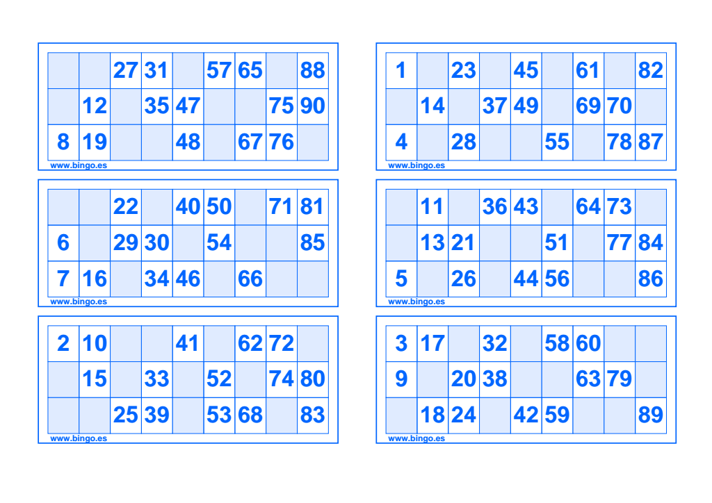 Cartones Bingo Azul Pdf Google Drive Bingo Para Imprimir Cartones De Bingo Cartas De Bingo