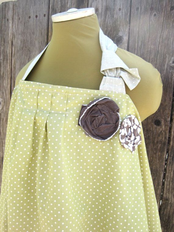 nursing cover variation... too cute!! love the pleats and flowers ...