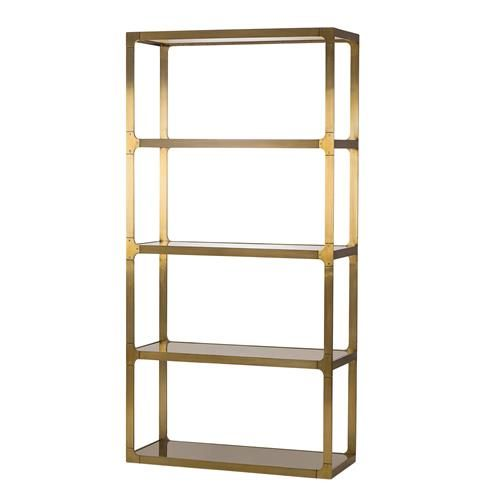 Maison 55 Evans Regency Bronze Glass Shelved Display Bookcase