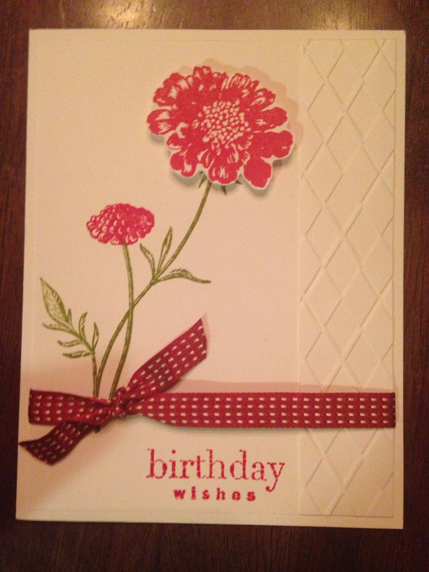 Homemade birthday card made with stampin up products cards i made