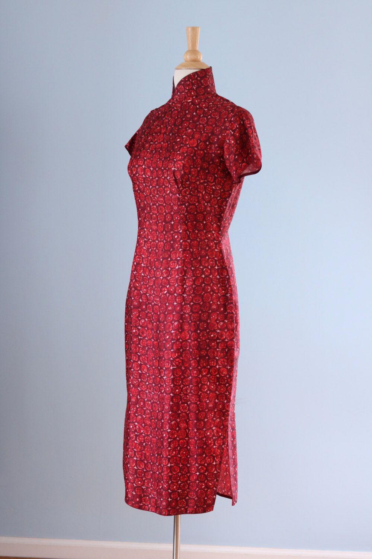 Verkauf der 1940er Jahre orientalische Seidenkleid / von LivedIn