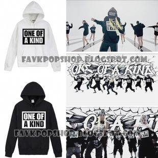 Big+Bang+One+of+a+Kind+Hoodie+as+seen+in+the+MV Color:+White+and+Black Size:+S/M/L/XL