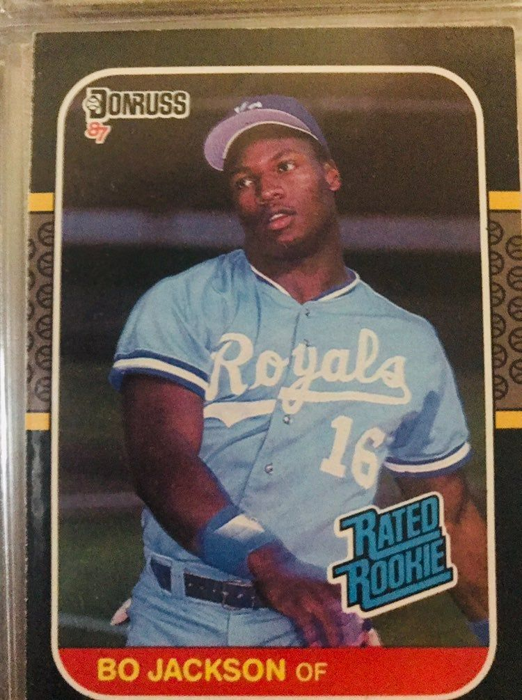 Bo jackson 1986 rookie don russ card mint condition