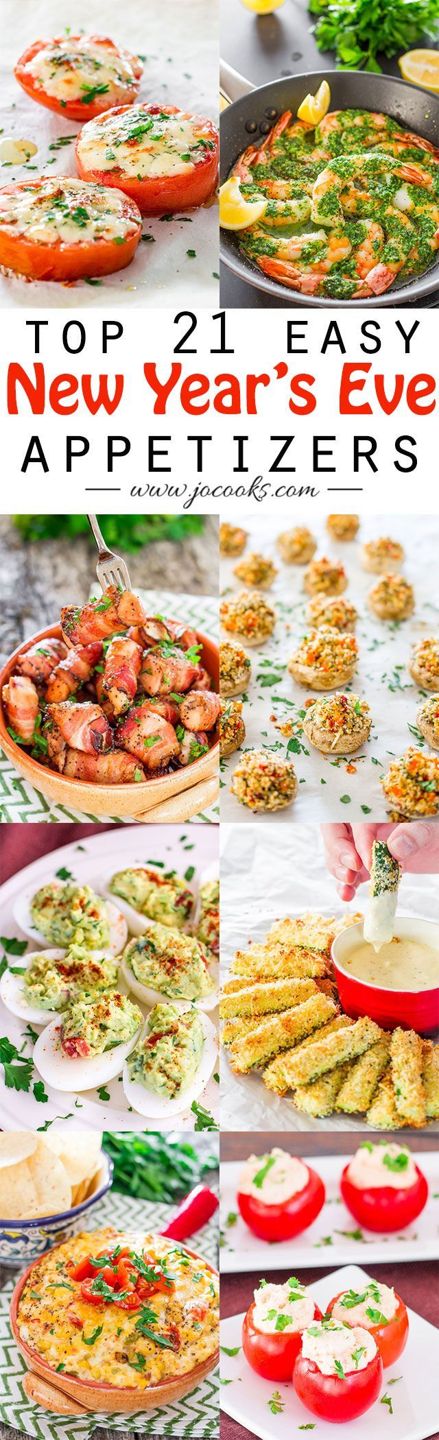 21 Top Easy New Year's Eve Appetizers. Yum! Decorate your table with Afloral.com and show off your apps!