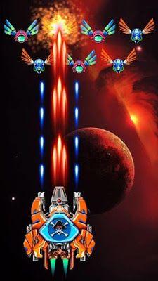 تحميل لعبة galaxy attack: alien shooter مهكرة vip