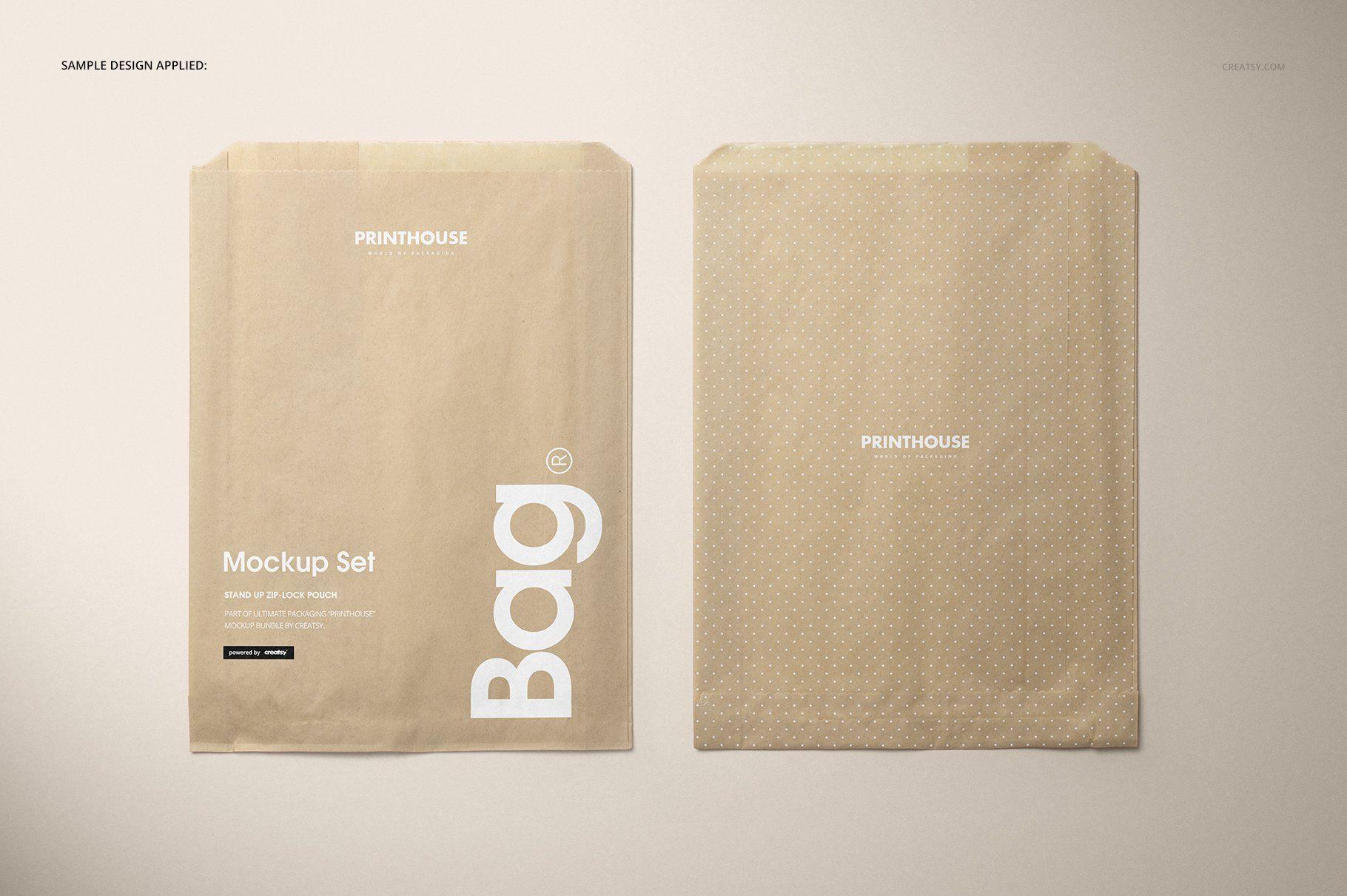 Download Sandwich Snack Paper Bag Mockup Set Bag Mockup Free Business Card Templates Paper Bag