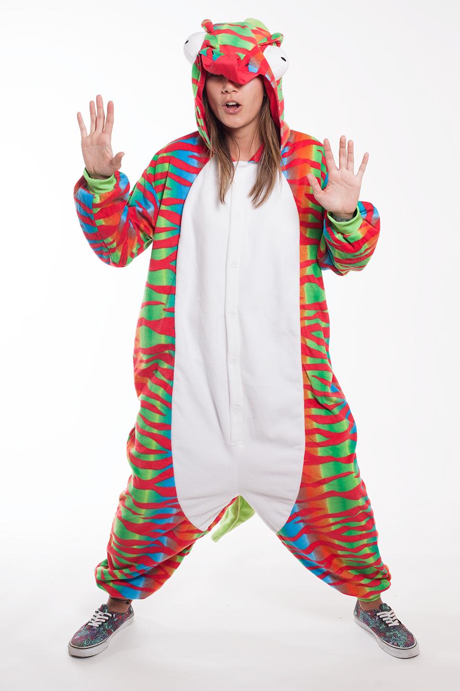 Chameleon Kigurumi Onesie Adult Animal Costume Pajamas ab1d7d79d