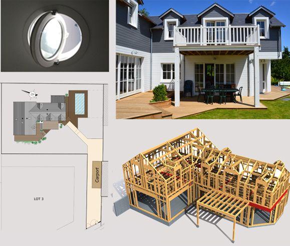 Maison Bois Style Etats-Unis - Double Jeu - Toit et Bois Plans