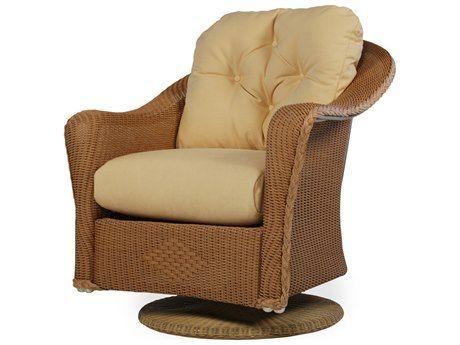 Lloyd Flanders Reflections Wicker Swivel Rocker Lounge Chair With