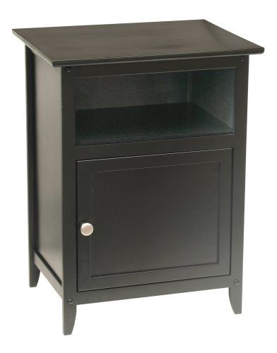 Winsome Wood End Table Night Stand With Door And Shelf Black In 2018 Bedroom Furniture Pinterest Nightstand