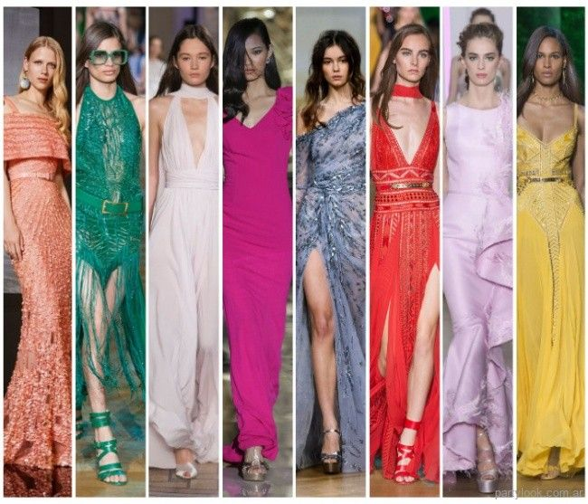 Colores para vestidos de fiesta 2019