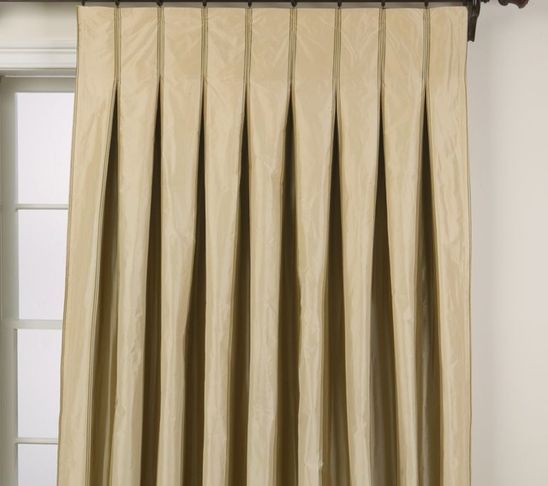 I am SO IN LOVE with these!! Inverted Pinch Pleat Drapes