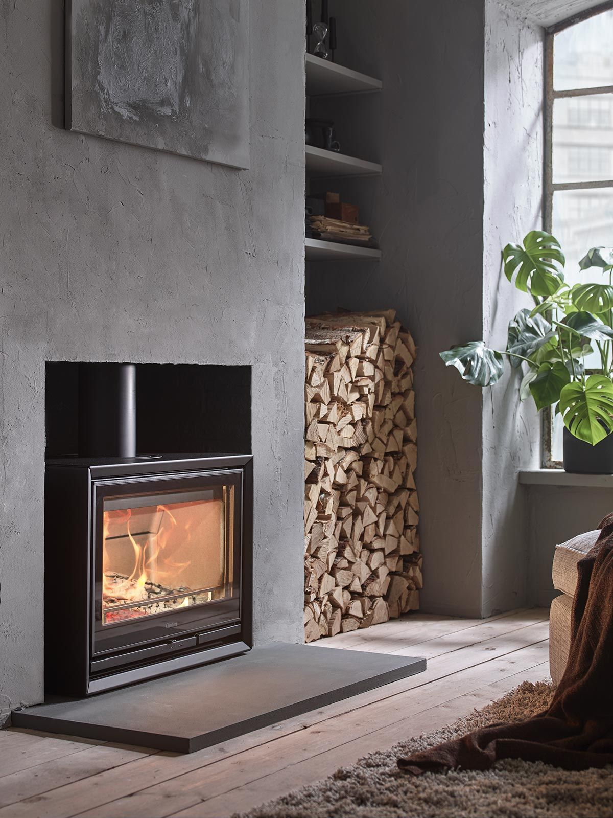 Floor Level Fireplace Contura 330 The Stove In The Illustration Has A Fire Rated Construct Freestanding Fireplace Log Burner Living Room Wood Burner Fireplace